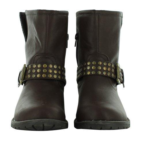 Footwear Sensation - Botas estilo motero mujer marrón - marrón
