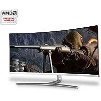 Hansung ULTRON 3479UC 34 Inch Cinema Wide Ultra WQHD (3440x1440) PVA 21:9 Gaming Monitor, 100Hz/3ms, AMD Freesync, Low Blue Light & Flicker Free, PBP/PIP