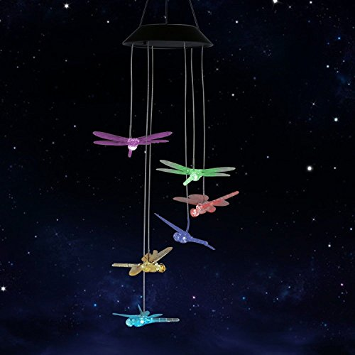 Color Changing LED Solar Dragonfly Mobile