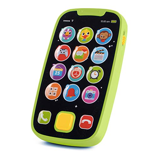 KidPal Baby Toy Phone for 1 2 Year Old with Light, Music| My First Smartphone Toy for Baby 8M 12M 16M 24M+ Toddler Cell Phone | Educational Call & Chat Learning Play Phone Toy for Role-Play Fun