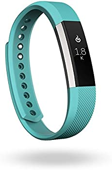 Fitbit Alta Fitness Tracker (Large in Silver/Teal)