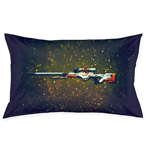 - Soft Pillow Covers Gun Digital Art Graphics Standard 20 X 30 Inch Pillowcases Double Printed Cushion Covers Car Sofa Home Decor