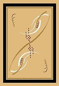 Home Dynamix Zone 806-101 3-Feet 7-Inch by 5-Feet 2-Inch Area Rug, Sand