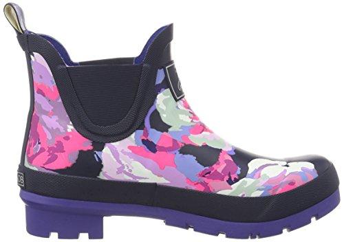 Joules Donna Wellibob Rain Shoe Francese Navy Beau Bloom