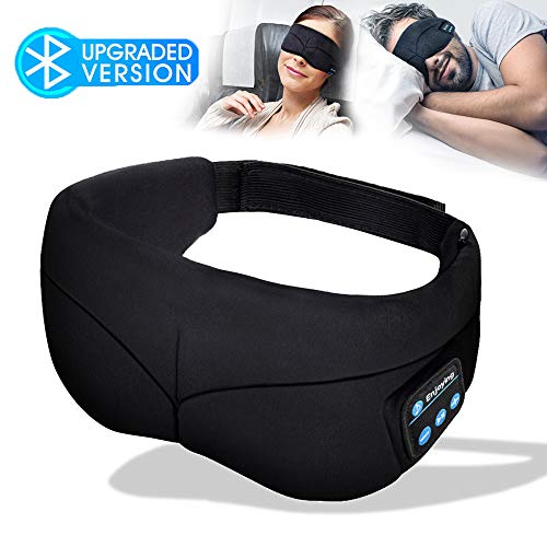 Sleep Mask Headphones, Bluetooth Eye Mask, Headband Headphones with Built -in Speakers, Wireless Headphone for Sleeping, Meditation, Insomnia ()