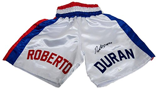 Roberto Duran Autographed/Signed Boxing Trunks JSA