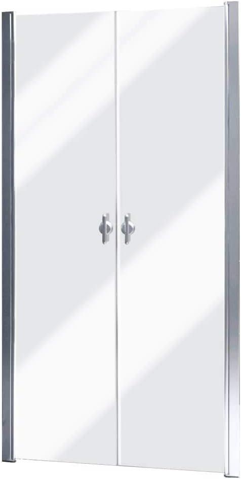 vidaXL Recinto de ducha, Puerta de vidrio 80 cm, Templo de ducha ...