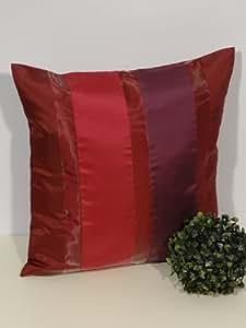 Funda de almohada Aparter rojo lila rayas - tamaño 40 x 40 cm - los dosel en el mismo diseño disponibles