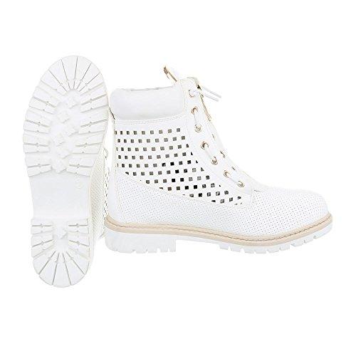 Ital-Design - Botas Militar Mujer Weiß