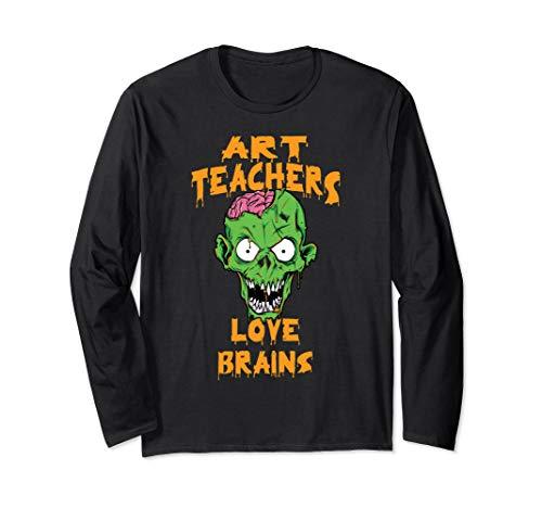 Art Teachers Love Brains Halloween Costume Long -