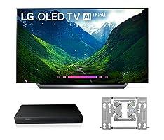 LG OLED55C8P OLED 4K Ultra High Definition AI Smart TV + UP870 4K UHD Blu-Ray Player + OTW420B EZ Slim Wall Mount