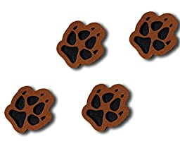 ToeJamR Stomp Pads - 4 Puppy Paws - Brown