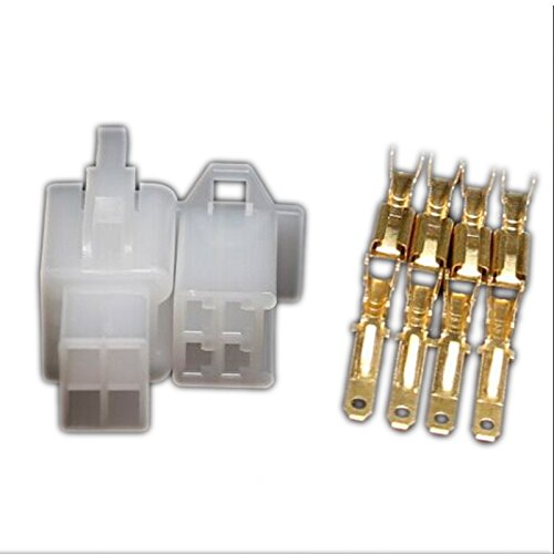 10 set 2.8mm connector 4pin electrical wire auto car 2.8 Connector for E-Bike Automobile Motorcycle etc kaifa