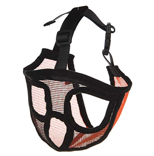 Aucanus Dog Muzzles for Short Snout, Mesh Dog Mask for Shih Tzu, Bulldog, Pug, Shar Pei to Anti-Biting, Barking and Licking (S)
