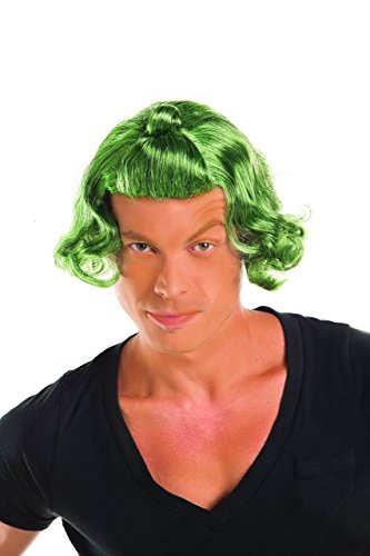 (Party King Men's Candy Man Costume Wig, Green, One)