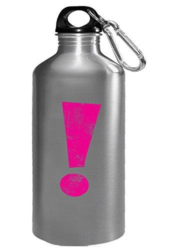 Magenta Grunge Exclamation Point - Water Bottle