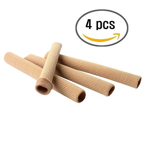 Coyom Toe Protectors Heels -Gel Toe Tubes (4 Pcs) - Fabric Sleeve Protectors