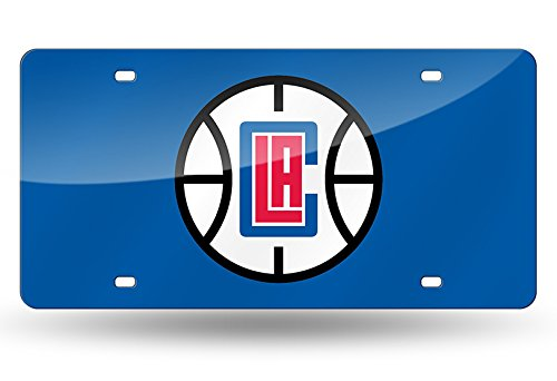 Rico NBA Los Angeles Clippers Laser Inlaid Metal License Plate Tag, Blue by Rico