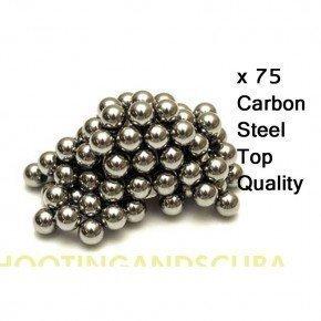 SMK Lot de 75billes BB en acier carbone pour lance-pierre/catapulte 9, 5mm 5mm