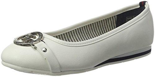Tom Tailor 2790503, Bailarinas para Mujer Weiß (white)