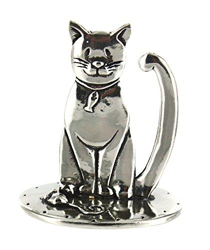 Pewter Cat Ring Holder by Basic Spirit