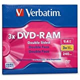 6 Pack Disc, DVD-RAM, 9.4GB, R/W, double sided, type 4, removable, 1pk, 3X, DVD-RAM, 9.4GB