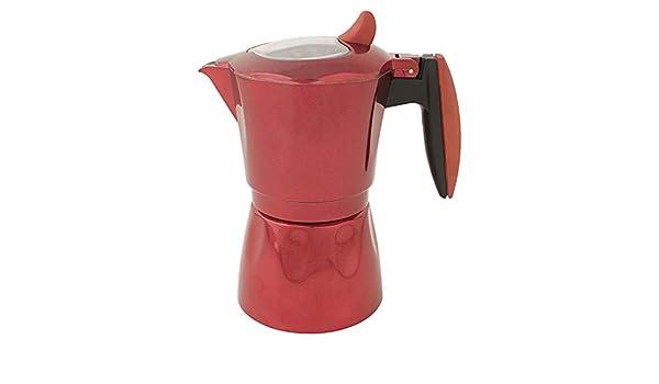 Habitex Cafetera al. induccion roja 6 tz: Amazon.es: Hogar
