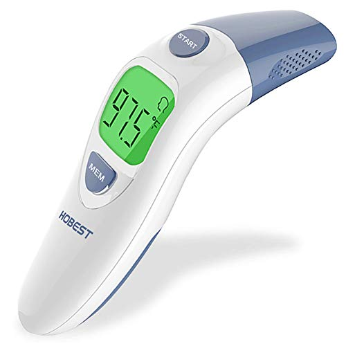 (Hobest Baby Thermometer, Digital Clinical Infrared Forehead and Ear Thermometer for Toddler Infant Kids Children Adult with Fast Accurate Fever Indicator)