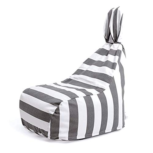 YJchairs Bolsa de Frijoles - Silla Kids Gaming Animal Ear Sofa Perezosa para Ninos (Color : Stripe)