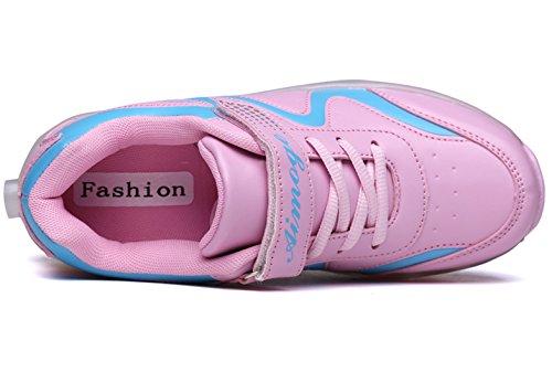 ECOTISH Unisex Schuhe mit Rollen Kinder Skateboard Schuhe Rollschuh Schuhe Mädchen Jungen LED Leuchtet Sohle Leuchtend Sport Turnschuhe