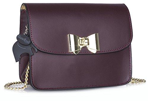 Big Handbag Shop - Bolso bandolera mujer morado