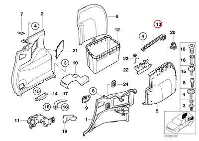 amazon bmw genuine trunk floor trim panel right vent louver 2000 BMW 323I Timing Chain Diagram image unavailable