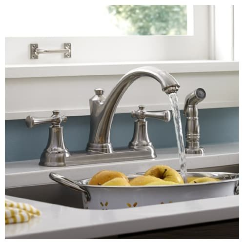 American Standard 4285.501.075 Stainless Steel Portsmouth Portsmouth Two Handle Kitchen W/ Spray