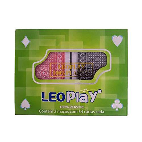 Baralho Plástico LeoPlay 2 Maços - Leo & Leo