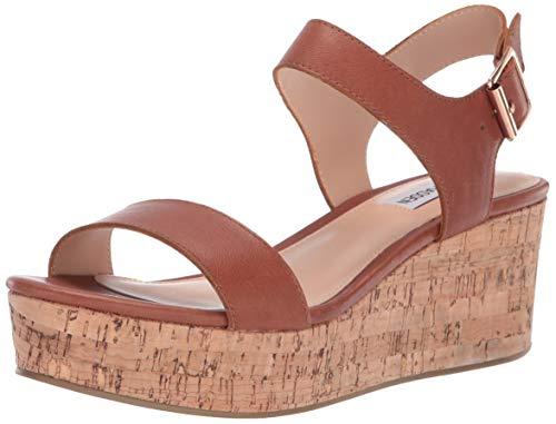 (Steve Madden Women's Breathe Wedge Sandal, Cognac Leather, 10 M US )
