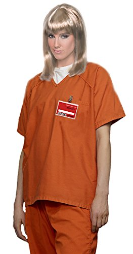 Women Prisoner Costume (Women's Orange Scrub Set Prisoner Costume,Orange,Small (Fits Dress Sizes 6-8))