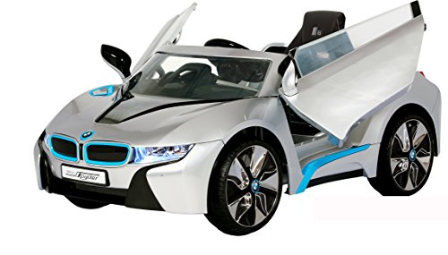 Tikes Car Coupe Cozy Little (Rollplay 6 Volt BMW i8 Ride On Toy, Battery-Powered Kid's Ride On Car - Silver)