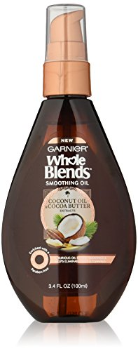 Garnier Whole Blends Smoothing Oil with Coconut Oil & Cocoa Butter Extracts, 3.4 Fluid Ounce