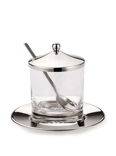 - Godinger Jam Jar with  Spoon & Tray/Honey Jar