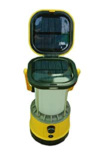 "Solar Powered Camping Lantern and iPhone Charger. 3 watt brightness. 10"" of Height."