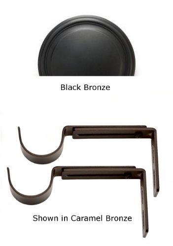 Designer Metals Curtain and Drapery Pole Brackets (Black bronze) by Kirsch Designer Metals ()