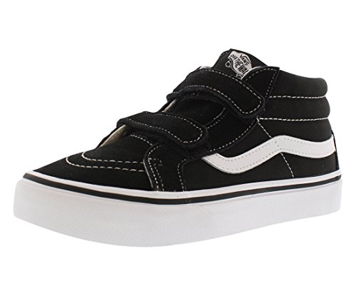 Vans Kids Sk8-Mid Reissue V Skate Shoe Black/True White 2.5