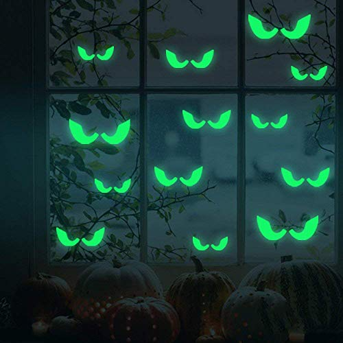 (Halloween Wall Decoration, Eyes Wall Decals Stickers for Halloween Party Kids Home Room Décor)