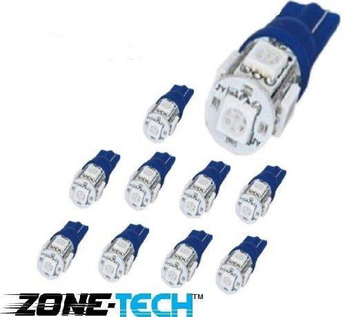 zone-tech-10x-194-168-2825-5-smd-high-power-blue-led-car-lights-bulb