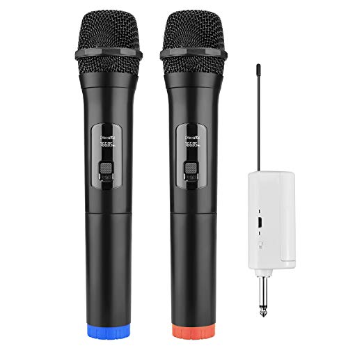 Wireless Microphone FerBuee Handheld Dynamic Microphone Professional Conference Mic Karaoke, Home Entertainment, Speech, Stage Shows (Best Sound Karaoke On Demand)