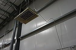 Fostoria FSS31241 FES Series Heavy Duty Flat Panel Emitter Electric Overhead Infrared Heater, 3.15KW, 13.13 Amp