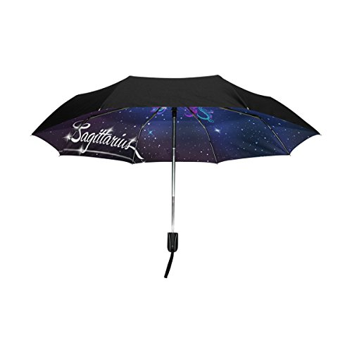 Amazon.com : Constellation Zodiac Sign Sagittarius Lightweight UPF 50+ Anti-UV Parasol Waterproof Windproof Reverse 3 Folds Auto Open Close Umbrella ...