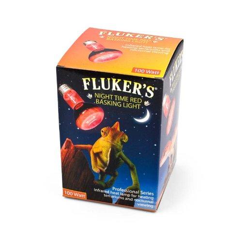 Flukers Red Heat Bulbs - Fluker's Red Night Time Basking Spotlight Infrared Heat Lamp for Reptiles