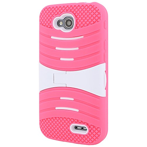 LG L90 Case CellJoy® [Armor Shockwave] {Pink} (WILL NOT FIT L70) Extreme Hybrid Armor Hard Cover With Kick Stand For LG Optimus L90 D415 T-Mobile [Retail Packaged] (Lg L90 Phone Cover T Mobile)