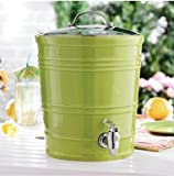 2.5 Gallon Ceramic Beverage Dispenser - Green